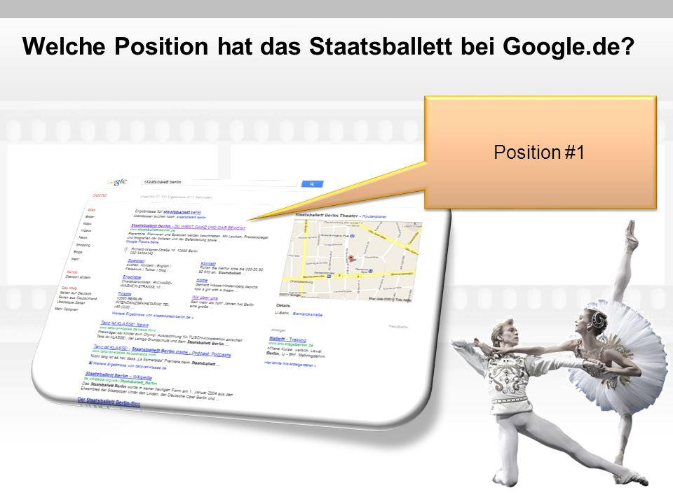 Welche Position hat das Staatsballett bei Google.de? Position #1