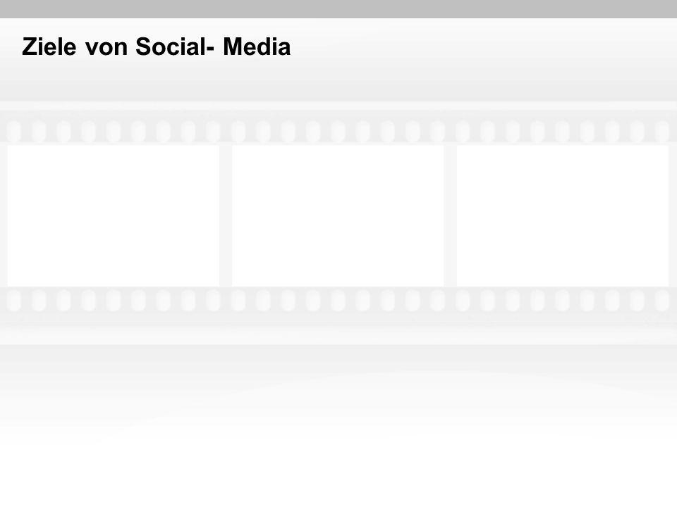Ziele von Social- Media