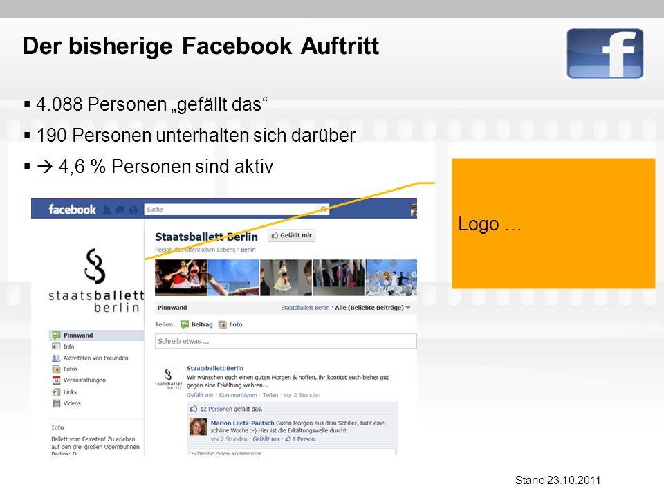 Der bisherige Facebook Auftritt … Stand 23.10.2011