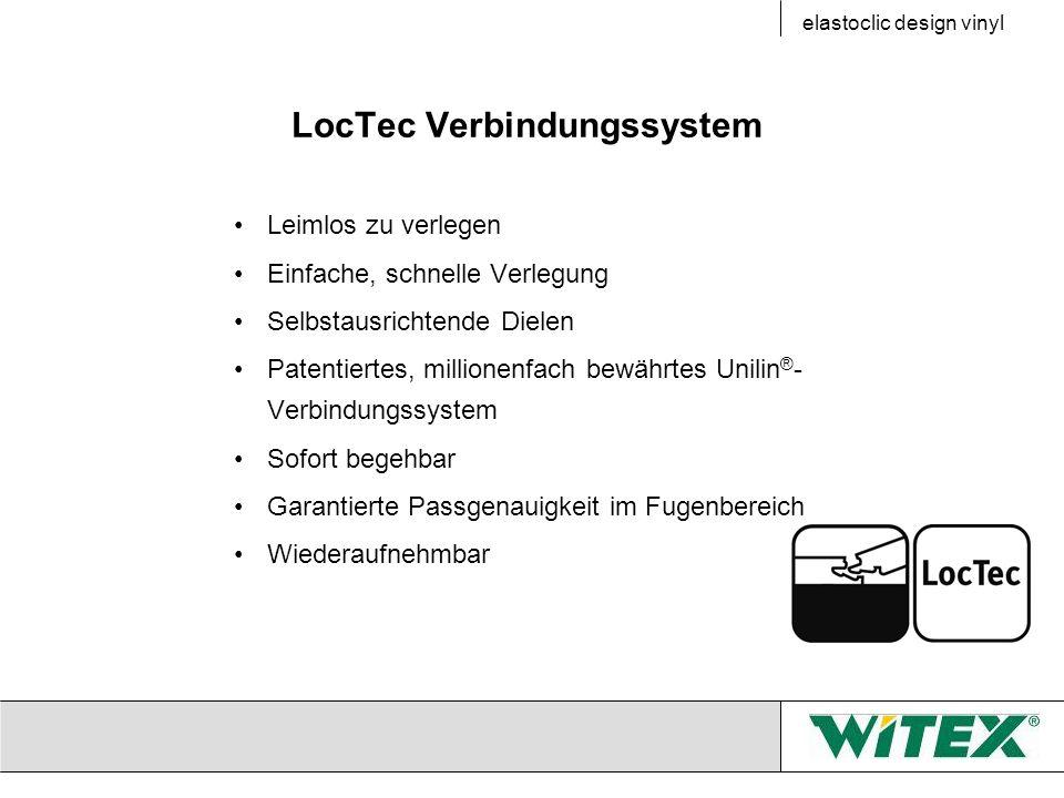 LocTec Verbindungssystem Leimlos zu verlegen Einfache, schnelle Verlegung Selbstausrichtende Dielen Patentiertes, millionenfach bewährtes Unilin ® - V