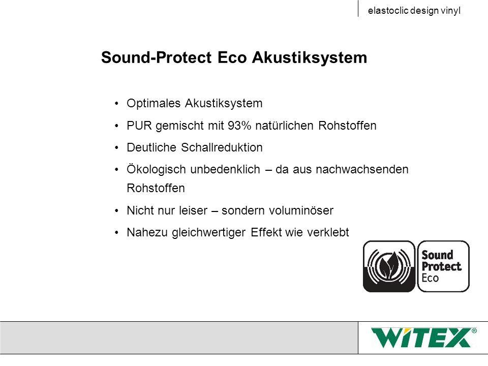 Sound-Protect Eco Akustiksystem Optimales Akustiksystem PUR gemischt mit 93% natürlichen Rohstoffen Deutliche Schallreduktion Ökologisch unbedenklich