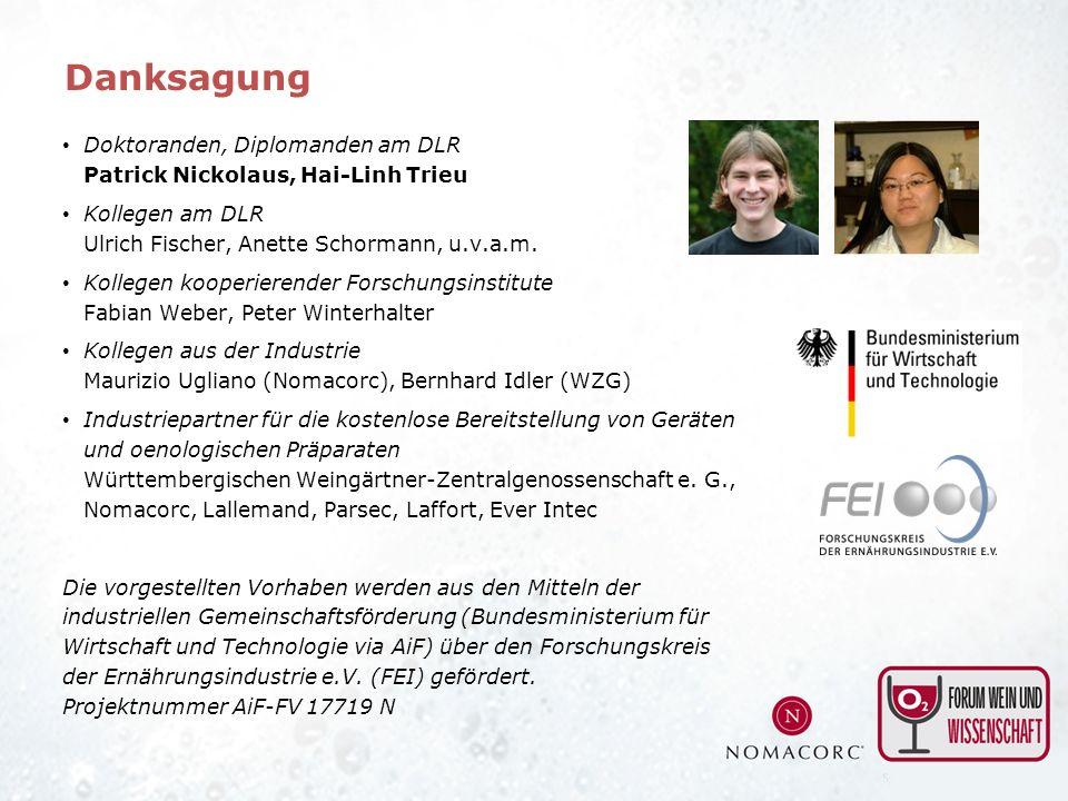 Doktoranden, Diplomanden am DLR Patrick Nickolaus, Hai-Linh Trieu Kollegen am DLR Ulrich Fischer, Anette Schormann, u.v.a.m. Kollegen kooperierender F