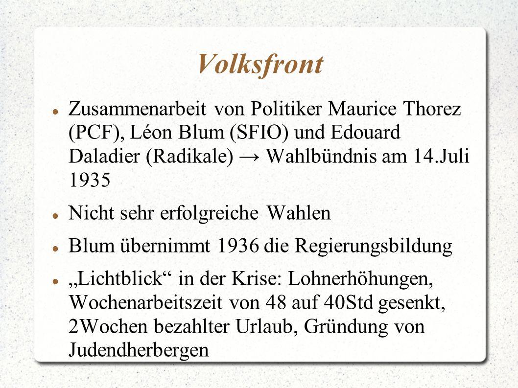 Volksfront Zusammenarbeit von Politiker Maurice Thorez (PCF), Léon Blum (SFIO) und Edouard Daladier (Radikale) Wahlbündnis am 14.Juli 1935 Nicht sehr