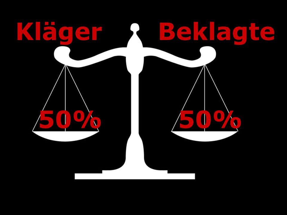 50% KlägerBeklagte