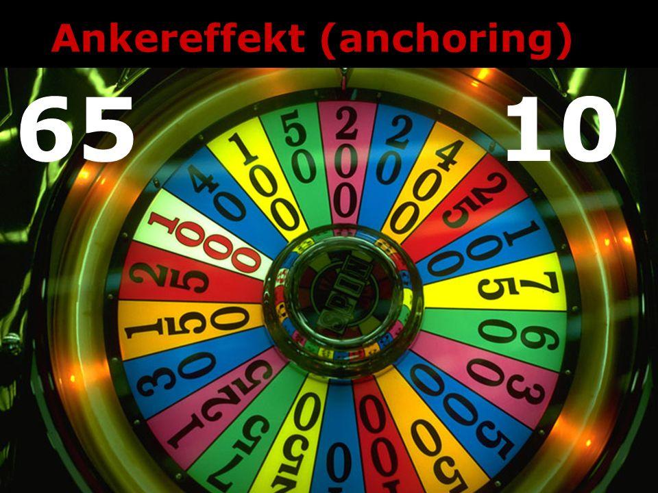 Ankereffekt (anchoring) 6510