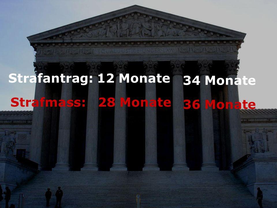 Strafantrag: 12 Monate Strafmass: 28 Monate 34 Monate 36 Monate