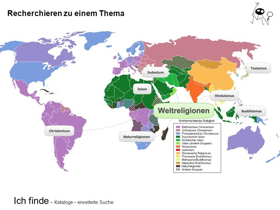 Ich finde – Kataloge – erweiterte Suche Schlagwörter «Weltreligionen»