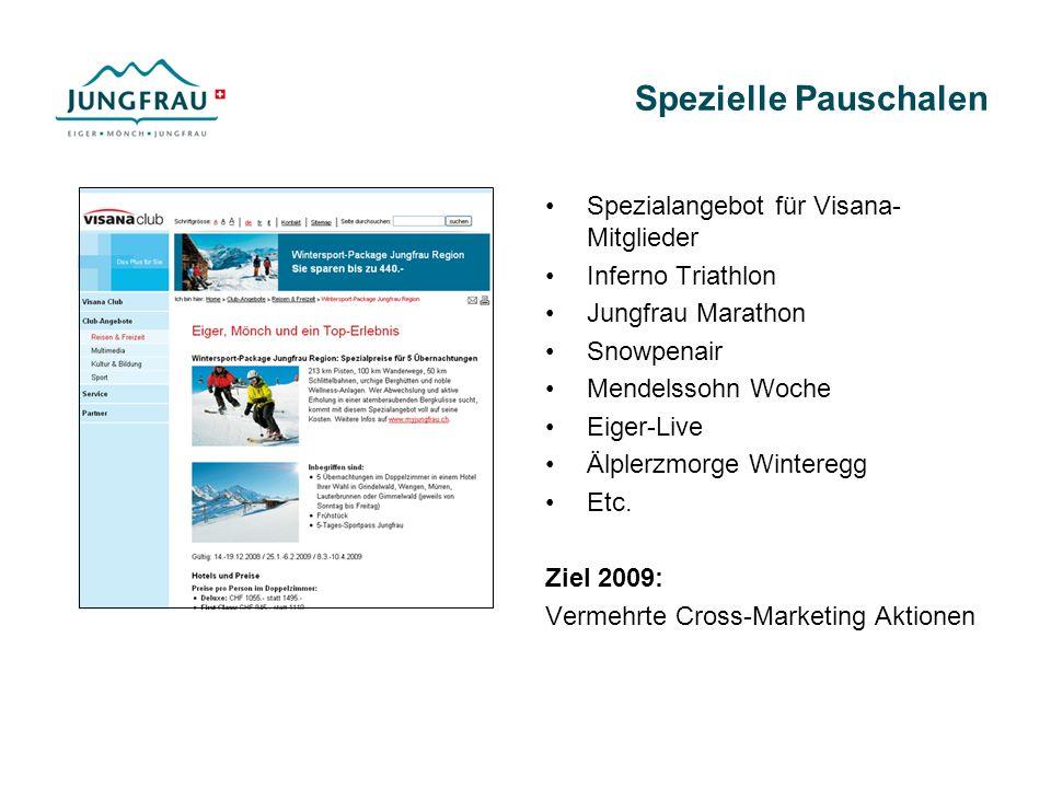Spezielle Pauschalen Spezialangebot für Visana- Mitglieder Inferno Triathlon Jungfrau Marathon Snowpenair Mendelssohn Woche Eiger-Live Älplerzmorge Wi