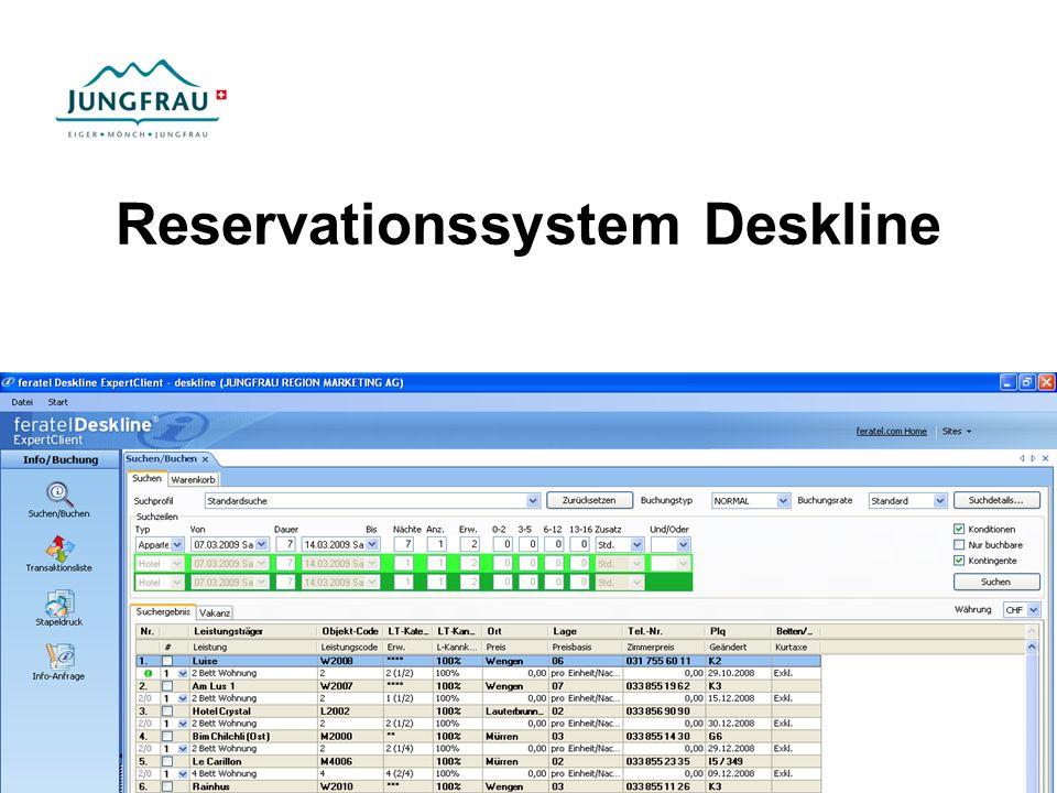 Reservationssystem Deskline