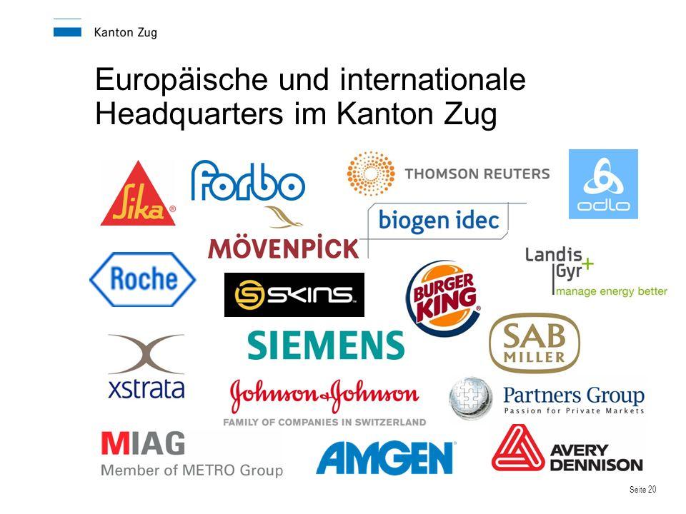 Seite 20 Europäische und internationale Headquarters im Kanton Zug