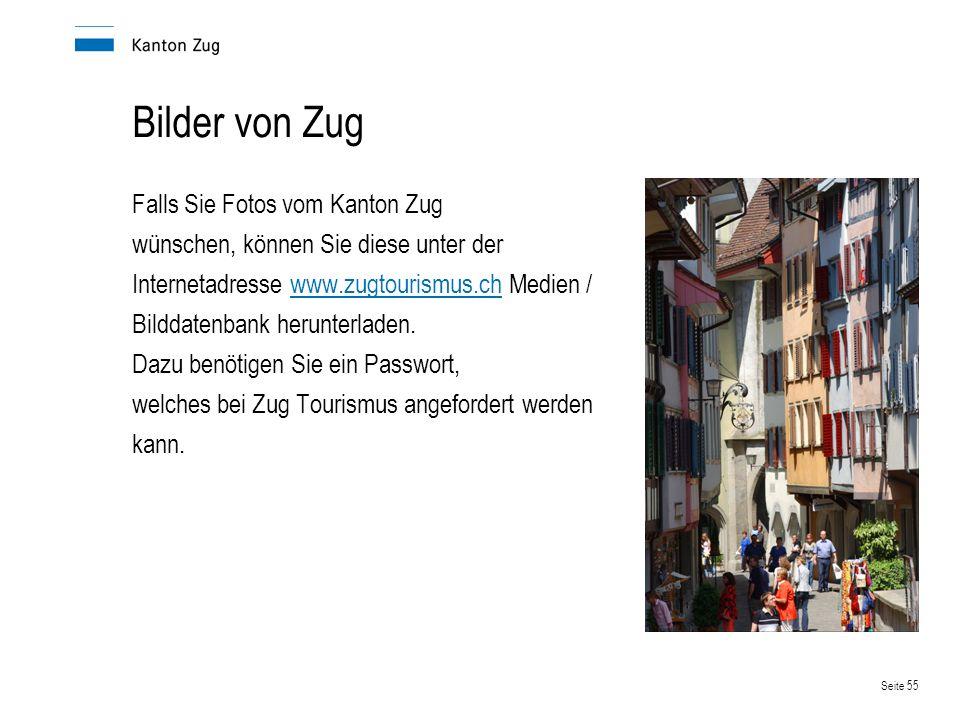 Seite 56 Ihre Ansprechpartner in der Verwaltung Ausländerfragen: www.zug.ch/afmwww.zug.ch/a Wirtschaft und Arbeit:www.zug.ch/awawww.zug.ch/awa Steuern:www.zug.ch/taxwww.zug.ch/tax Handelsregister:www.zug.ch/hrawww.zug.ch/hra Sozialwerke:www.zug.ch/ahvwww.zug.ch/ahv