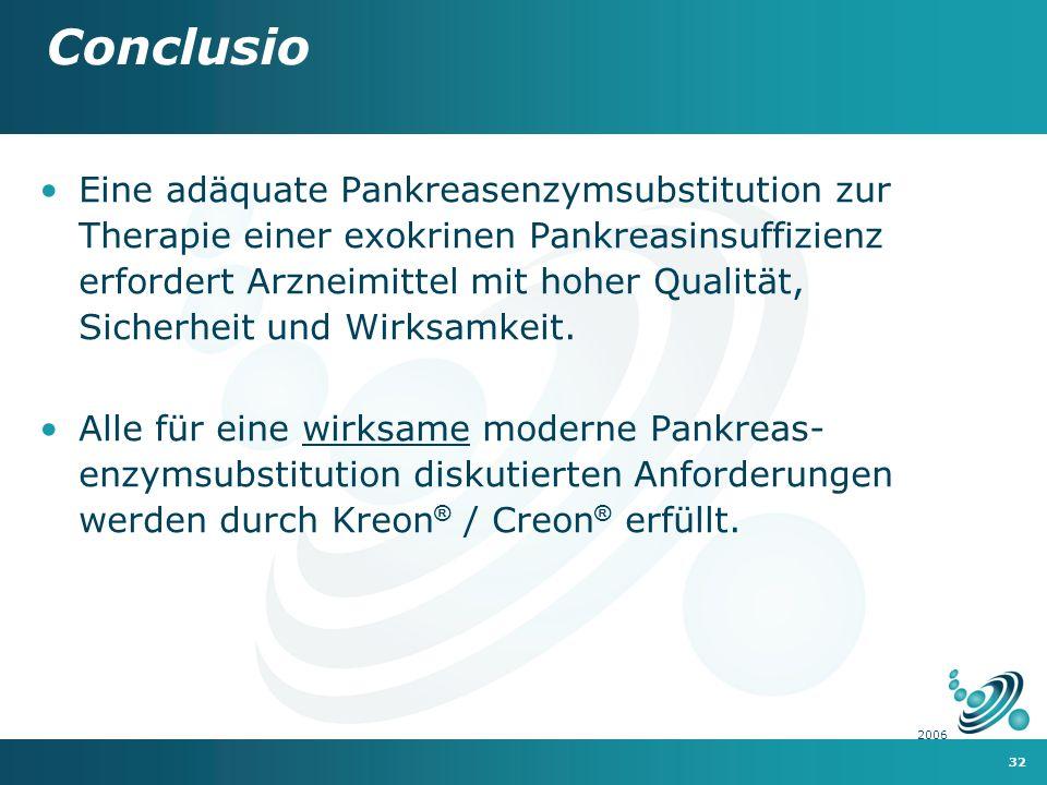 32 2006 Eine adäquate Pankreasenzymsubstitution zur Therapie einer exokrinen Pankreasinsuffizienz erfordert Arzneimittel mit hoher Qualität, Sicherheit und Wirksamkeit.