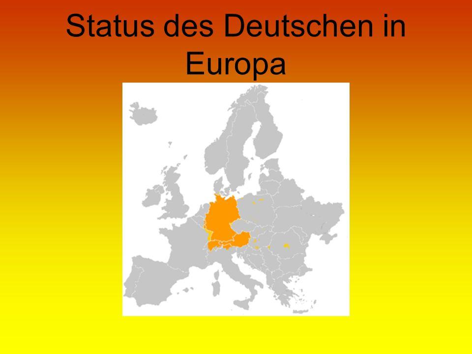 Status des Deutschen in Europa