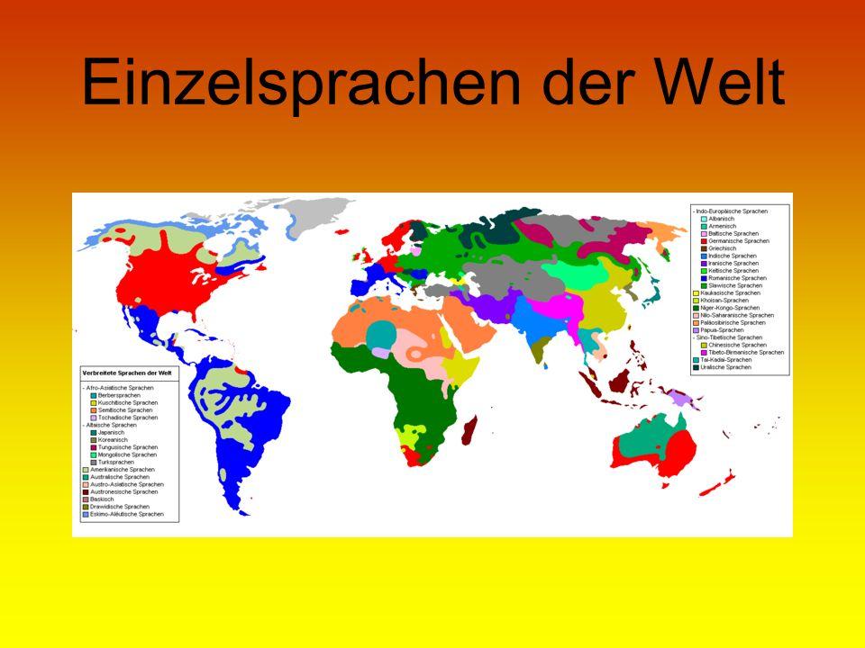 Einzelsprachen der Welt