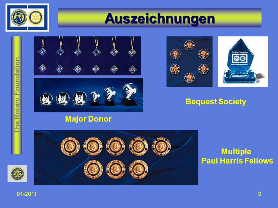 The Rotary Foundation 01-201110 Wohin fliessen die Spenden unserer Clubs.