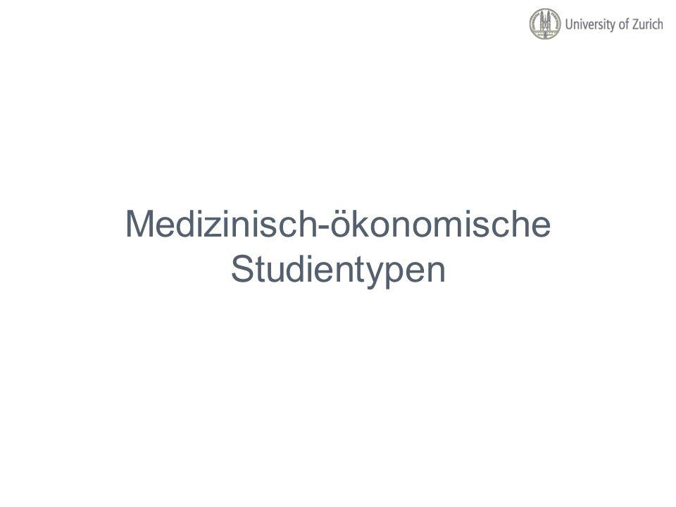 Medizinisch-ökonomische Studientypen