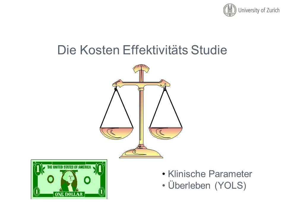 Die Kosten Effektivitäts Studie Klinische Parameter Überleben (YOLS)