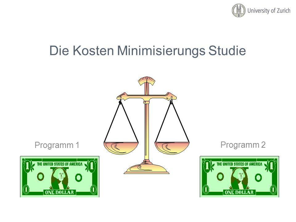 Die Kosten Minimisierungs Studie Programm 1 Programm 2