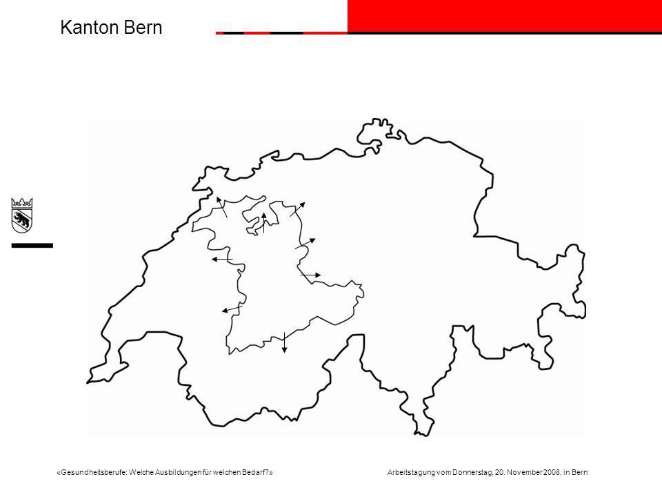 Kanton Bern «Gesundheitsberufe: Welche Ausbildungen für welchen Bedarf?»Arbeitstagung vom Donnerstag, 20.