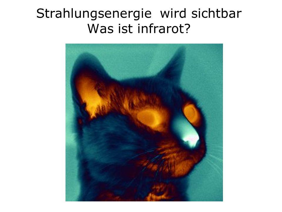 Strahlungsenergie wird sichtbar Was ist infrarot?