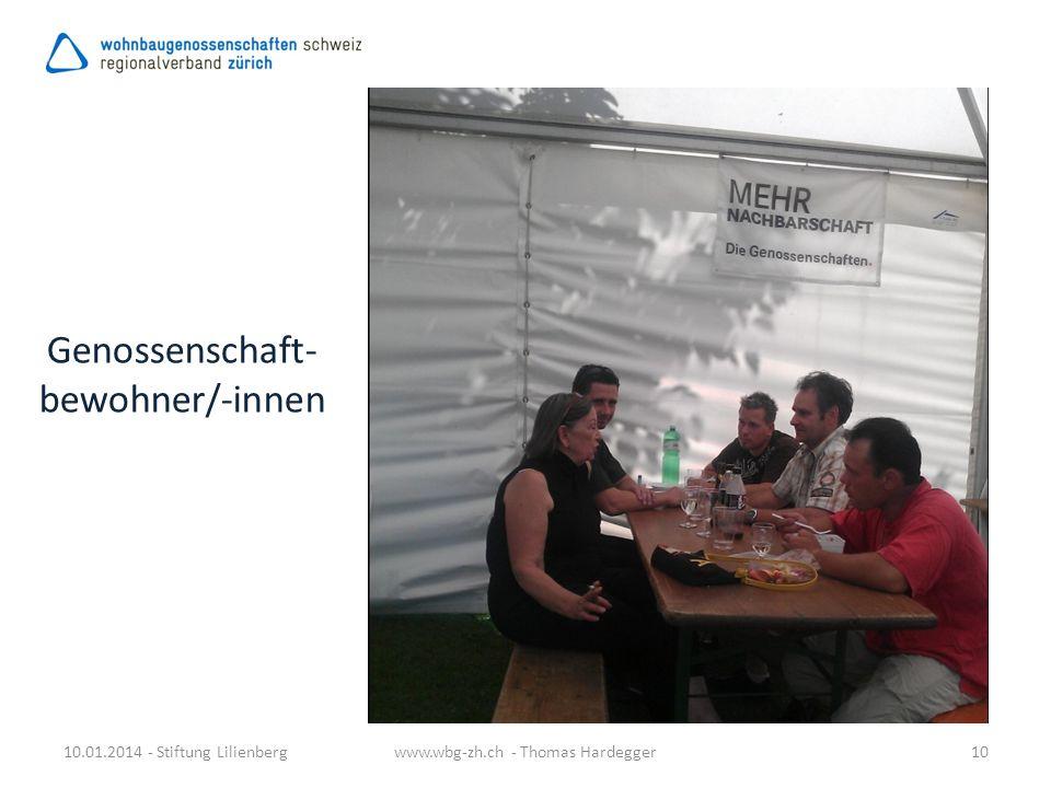 Genossenschaft- bewohner/-innen 10.01.2014 - Stiftung Lilienbergwww.wbg-zh.ch - Thomas Hardegger10