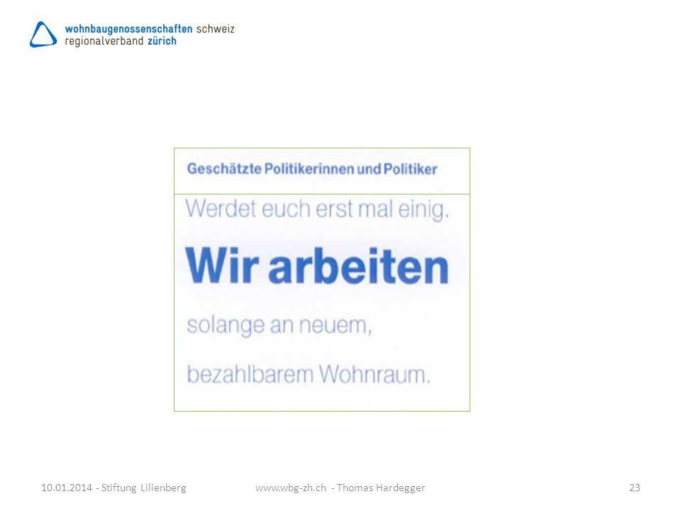 10.01.2014 - Stiftung Lilienberg23www.wbg-zh.ch - Thomas Hardegger