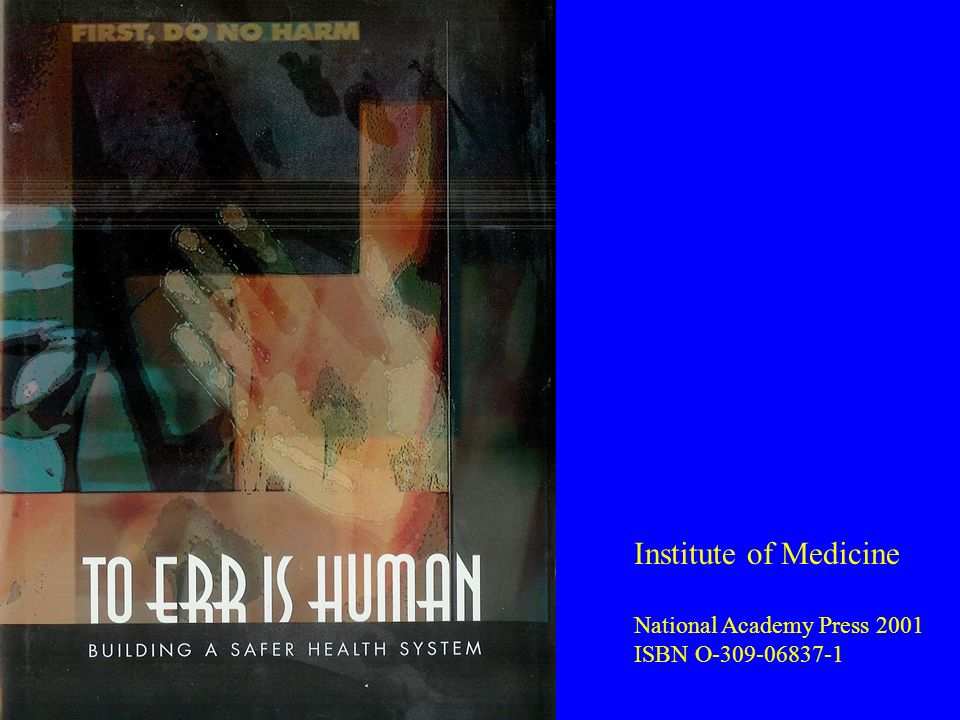 Institute of Medicine National Academy Press 2001 ISBN O-309-06837-1
