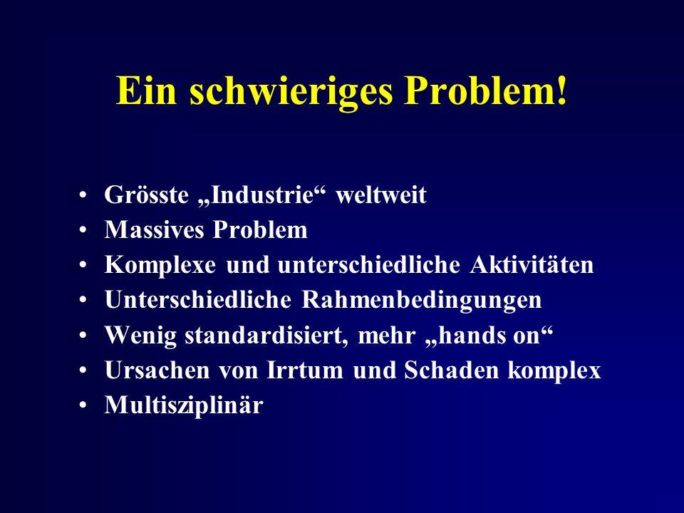 Ein schwieriges Problem.
