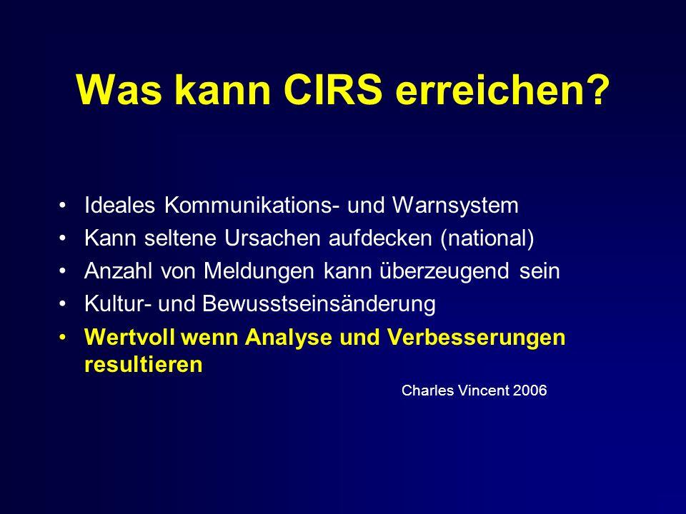 Was kann CIRS erreichen.