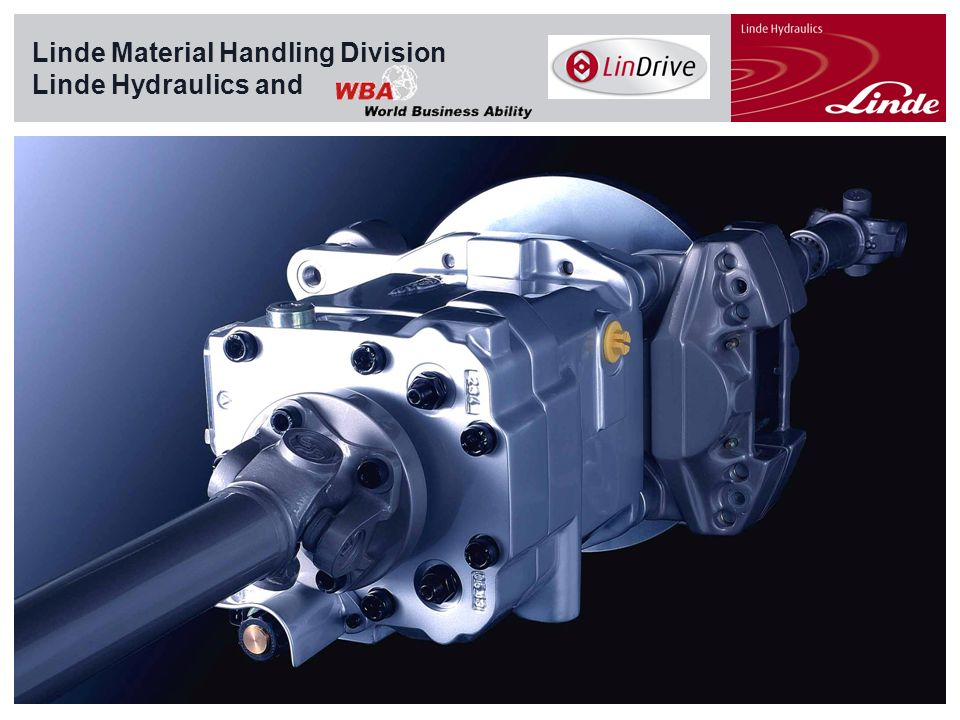 Linde Material Handling Linde Material Handling Division Linde Hydraulics and