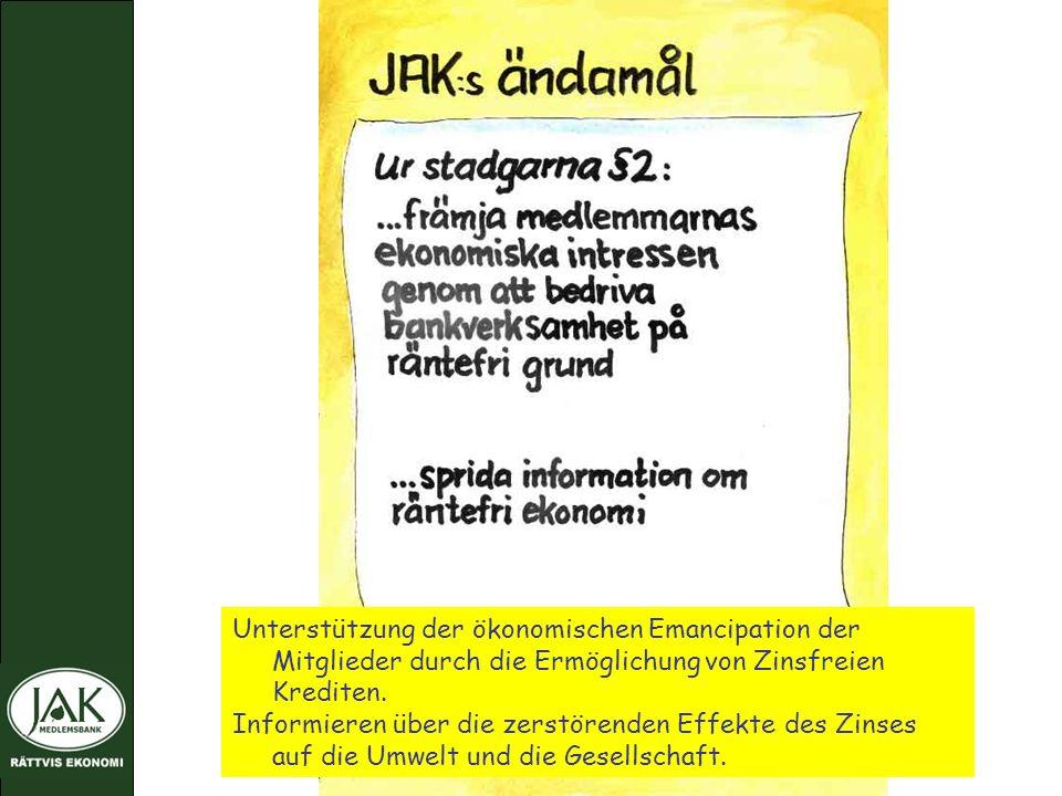 Unterstützung der ökonomischen Emancipation der Mitglieder durch die Ermöglichung von Zinsfreien Krediten.
