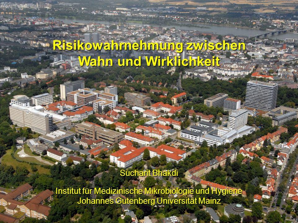 Sucharit Bhakdi Institut für Medizinische Mikrobiologie und Hygiene Johannes Gutenberg Universität Mainz Risikowahrnehmung zwischen Wahn und Wirklichk