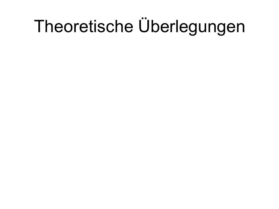 Theoretische Überlegungen
