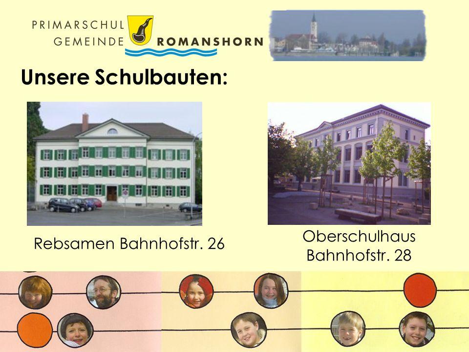 Unsere Schulbauten: Rebsamen Bahnhofstr. 26 Oberschulhaus Bahnhofstr. 28