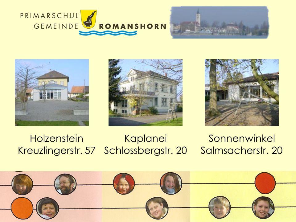 Sonnenwinkel Salmsacherstr. 20 Kaplanei Schlossbergstr. 20 Holzenstein Kreuzlingerstr. 57