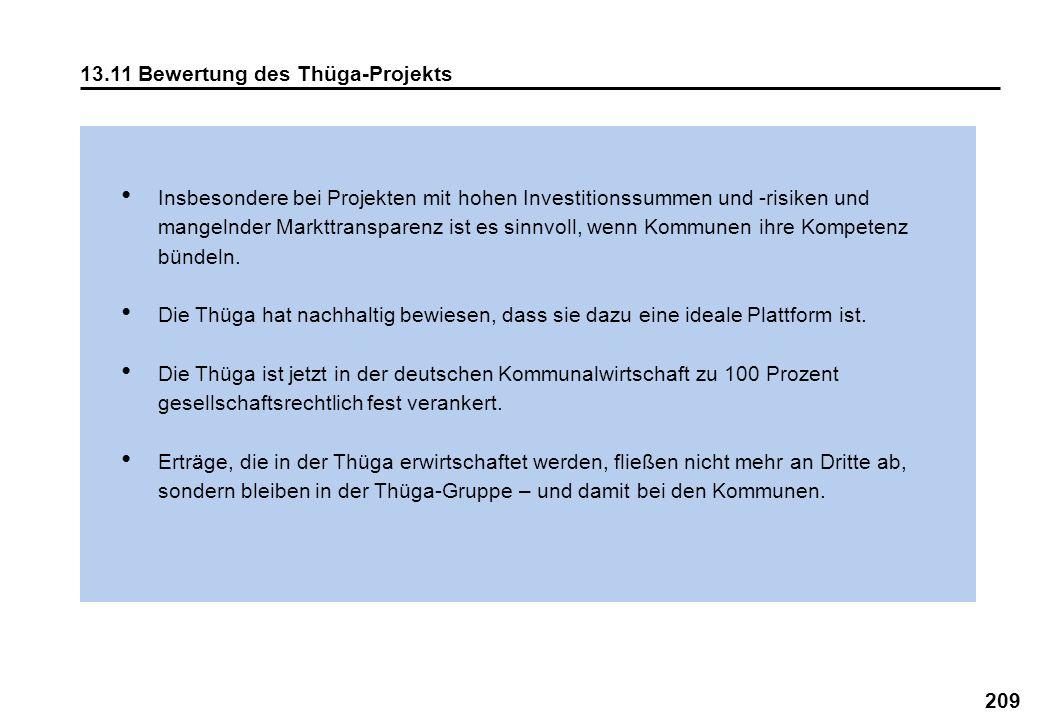 209 13.11 Bewertung des Thüga-Projekts Insbesondere bei Projekten mit hohen Investitionssummen und -risiken und mangelnder Markttransparenz ist es sin