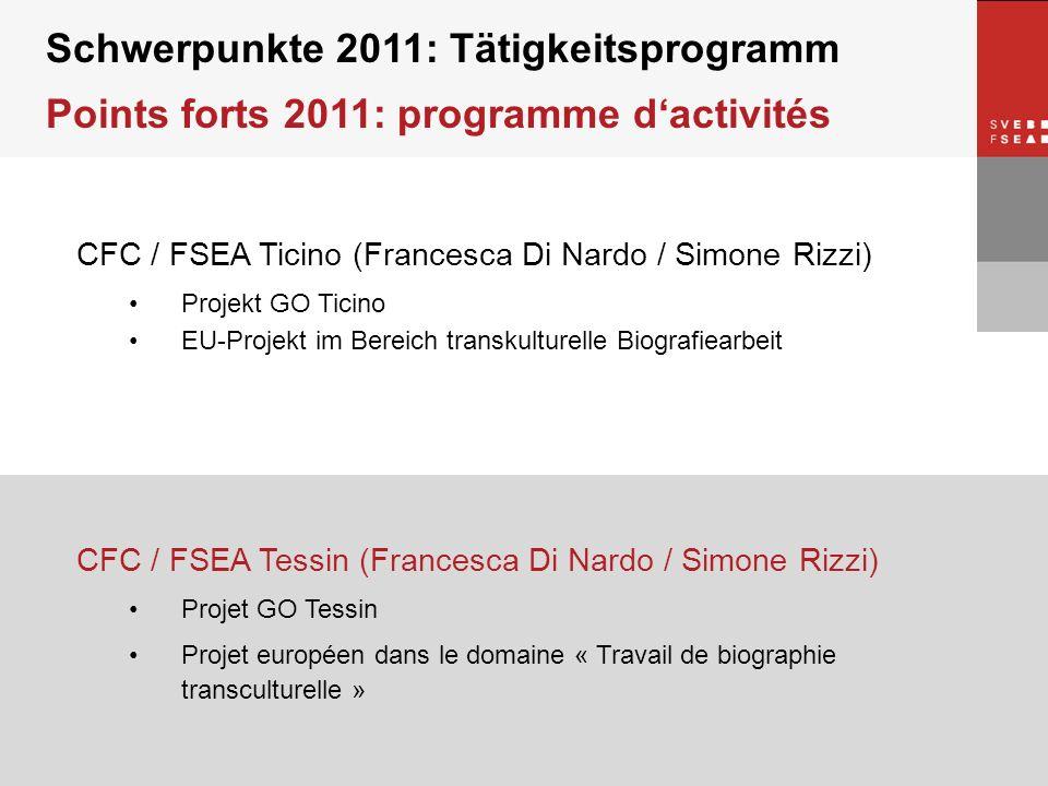 © SVEB/FSEA CFC / FSEA Ticino (Francesca Di Nardo / Simone Rizzi) Projekt GO Ticino EU-Projekt im Bereich transkulturelle Biografiearbeit Schwerpunkte
