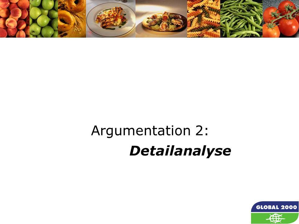 7 Argumentation 2: Detailanalyse