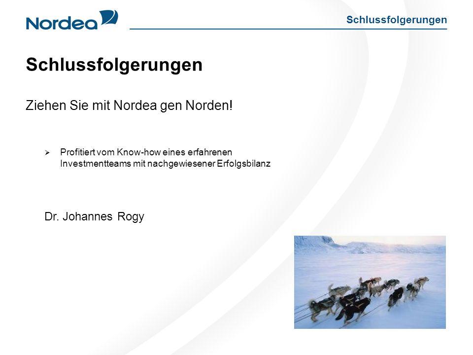 Schlussfolgerungen Ziehen Sie mit Nordea gen Norden.