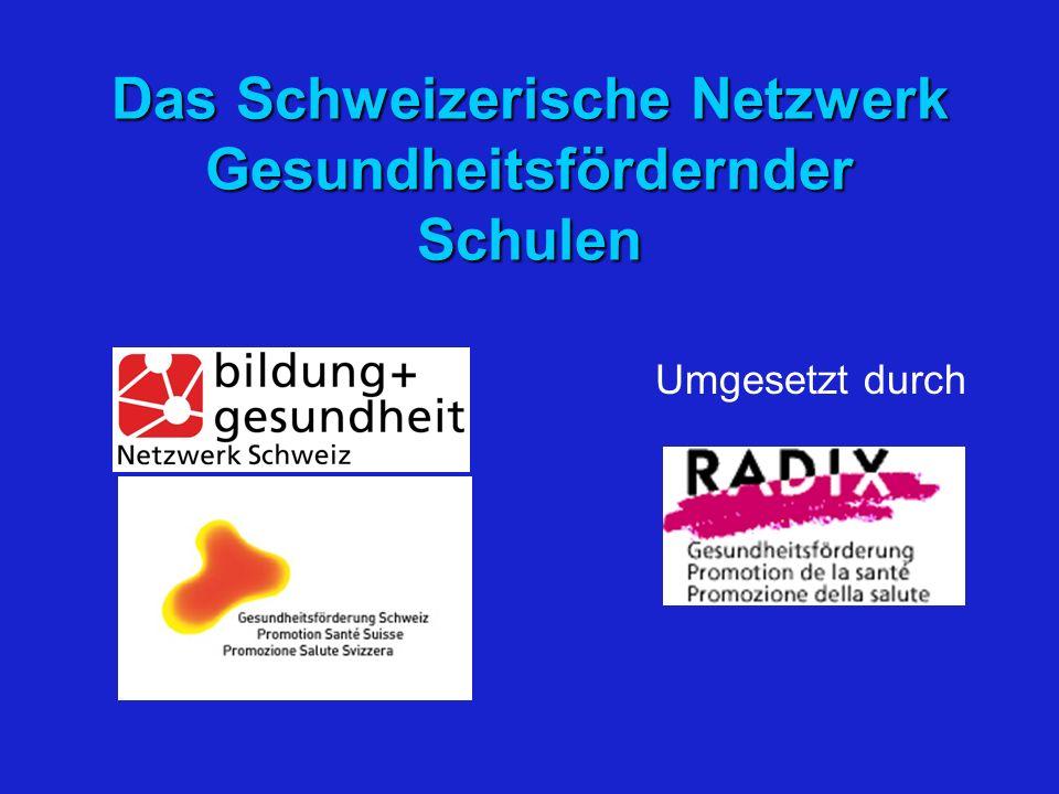 Das Schweizerische Netzwerk Gesundheitsfördernder Schulen Umgesetzt durch