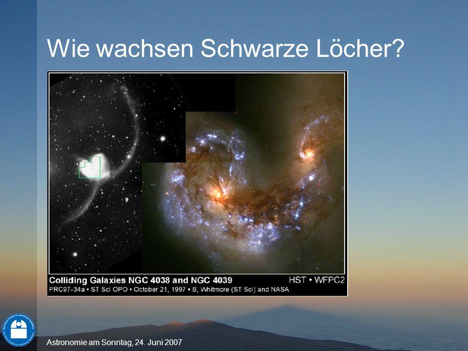 Astronomie am Sonntag, 24. Juni 2007 Wie wachsen Schwarze Löcher?