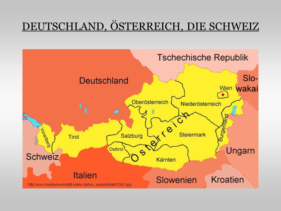 DEUTSCHLAND Ist der größte Staat in Mitteleuropa und nimmt eine Fläche von 357 029 km2 ein Grenzt an 9 Länder, im Norden an Dänemark, im Nordosten an Polen, im Osten an Tschechien, im Südosten an Österreich, im Süden an die Schweiz, im Südwesten an Frankreich, im Westen an Luxemburg und Belgien und im Nordwesten an die Niederlande