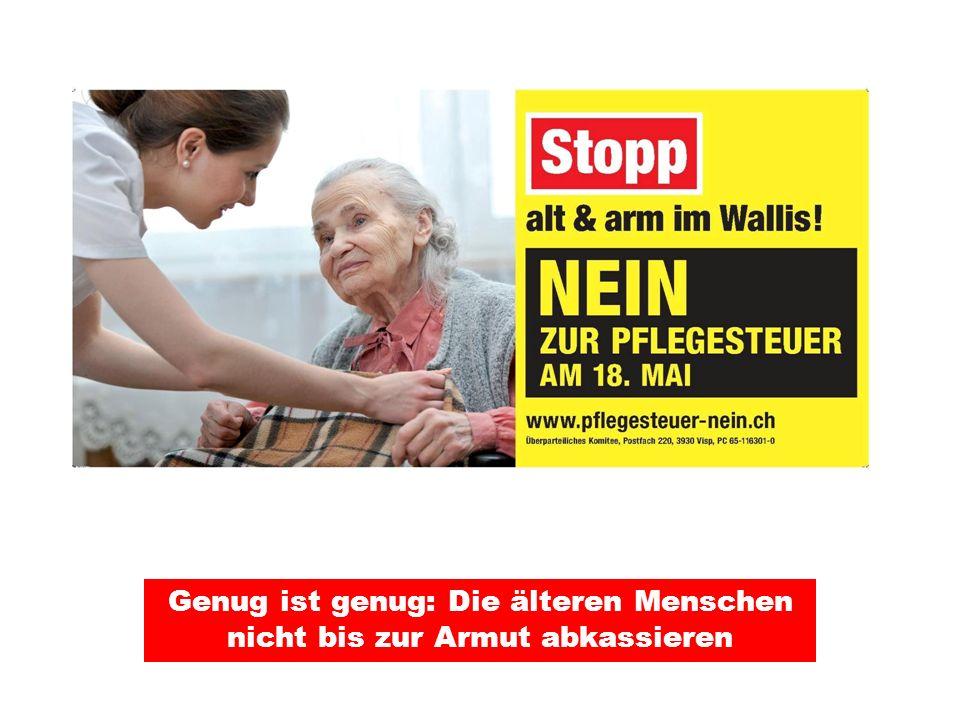 Die älteren MitbürgerInnen verdienen unseren Respekt Eine zusätzliche Belastung der HeimbewohnerInnen und ihrer Angehörigen bis zu 10000 Franken pro Jahr ist unsozial und verantwortungslos.
