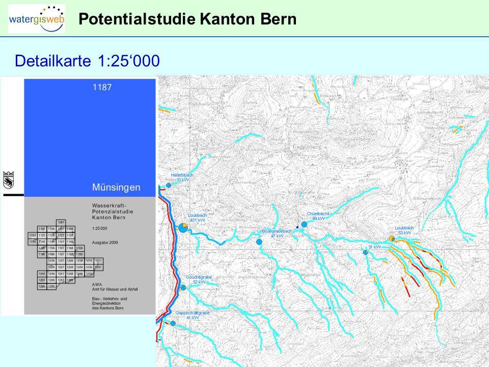 Potentialstudie Kanton Bern Detailkarte 1:25000