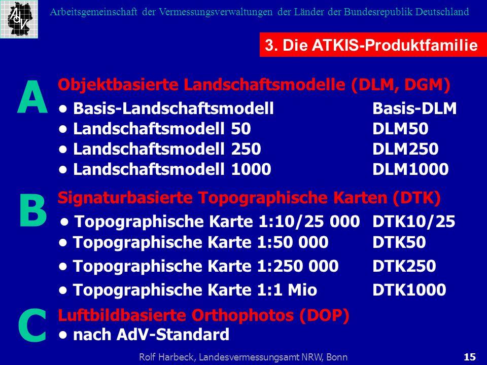 15Rolf Harbeck, Landesvermessungsamt NRW, Bonn Arbeitsgemeinschaft der Vermessungsverwaltungen der Länder der Bundesrepublik Deutschland 3. Die ATKIS-