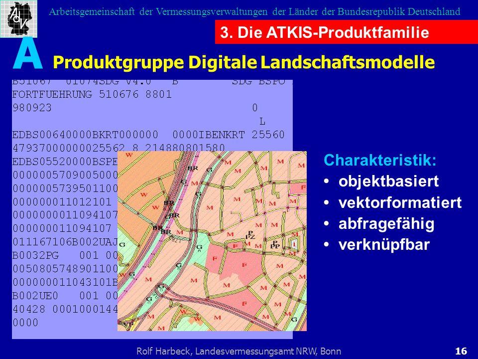 16Rolf Harbeck, Landesvermessungsamt NRW, Bonn Arbeitsgemeinschaft der Vermessungsverwaltungen der Länder der Bundesrepublik Deutschland Produktgruppe