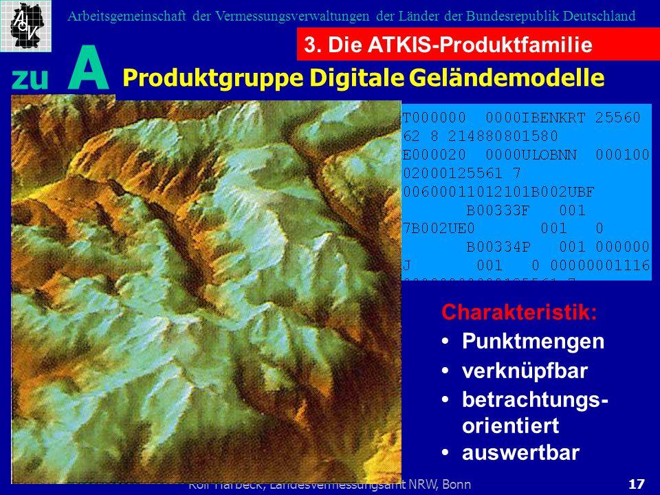 17Rolf Harbeck, Landesvermessungsamt NRW, Bonn Arbeitsgemeinschaft der Vermessungsverwaltungen der Länder der Bundesrepublik Deutschland Produktgruppe