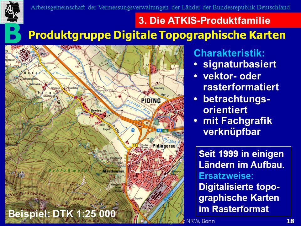 18Rolf Harbeck, Landesvermessungsamt NRW, Bonn Arbeitsgemeinschaft der Vermessungsverwaltungen der Länder der Bundesrepublik Deutschland Produktgruppe
