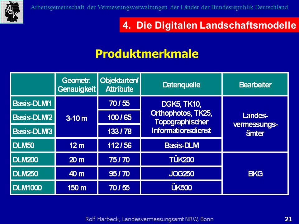 21Rolf Harbeck, Landesvermessungsamt NRW, Bonn Arbeitsgemeinschaft der Vermessungsverwaltungen der Länder der Bundesrepublik Deutschland 4. Die Digita