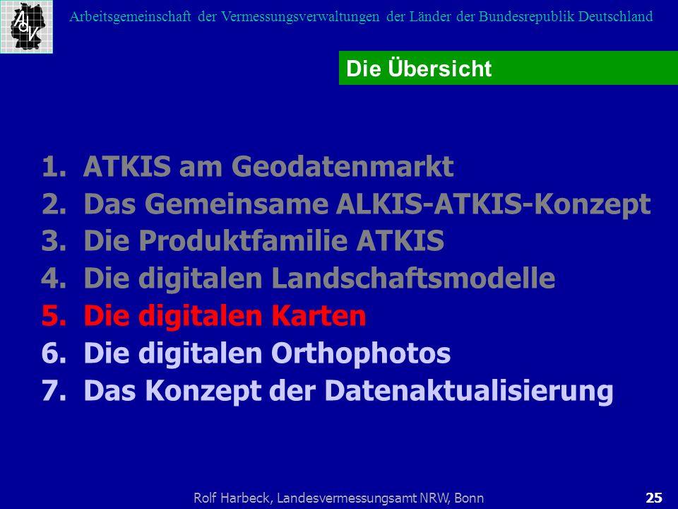 25Rolf Harbeck, Landesvermessungsamt NRW, Bonn Arbeitsgemeinschaft der Vermessungsverwaltungen der Länder der Bundesrepublik Deutschland 1.ATKIS am Ge